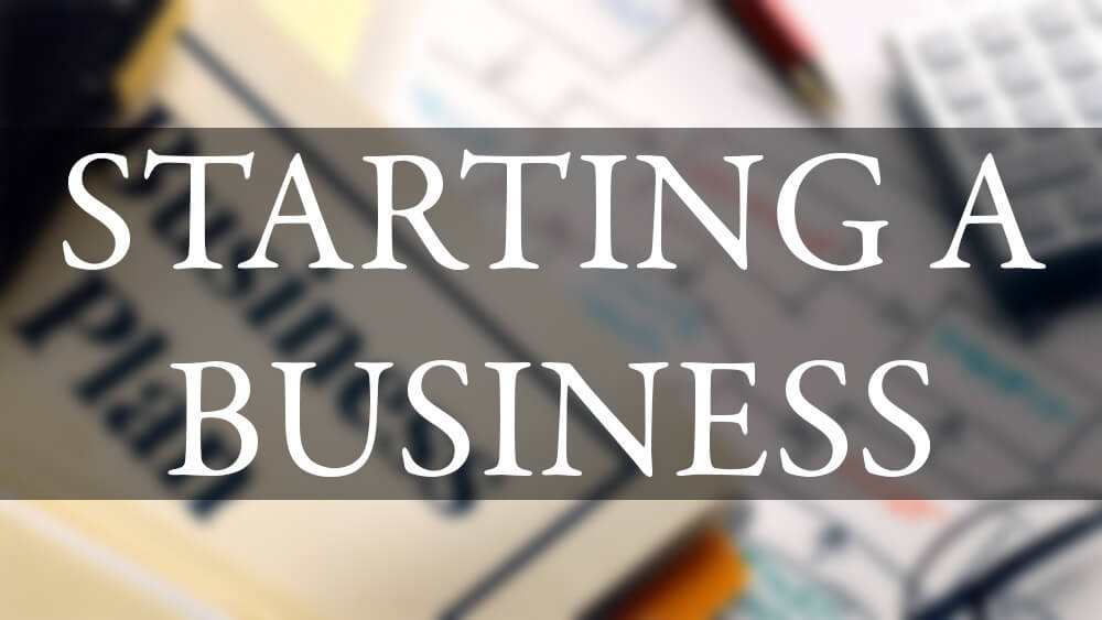startin a business Starting a business is exciting and will probably be one of the biggest decisions of your life now that you've decided that your business idea is feasible and you've identified possible.