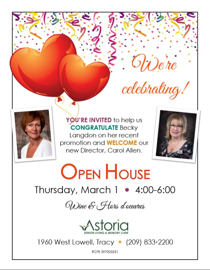 Open House Astoria Senior Living And Memory Care Tracy Chamber